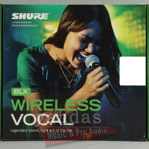 Shure BLX24/PG58 Handheld Vocal Microphone Wireless System H10