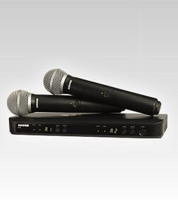 Shure BLX288/PG58 Dual Wireless Microphone System | Includes Two PG58 Handhelds H10