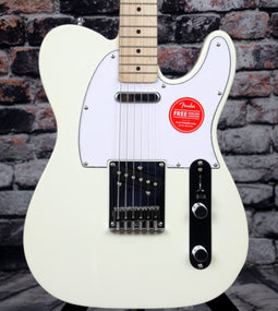 Squier Affinity Series Telecaster Electric Guitar Arctic White - Maple Fingerboard