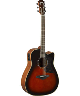 Yamaha A1MTBS Folk Cutaway Acoustic Electric Guitar - Mahogany - Tobacco Brown Sunburst