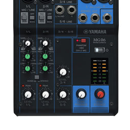 Yamaha MG06 6-Channel Pro Audio Mixer