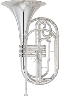 Yamaha YHR-302M Marching Bb French Horn YHR-302MS - Silver Plated