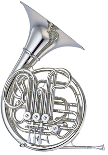 Yamaha YHR-668II Professional Series F / Bb Double French Horn YHR-668NDII - Nickel Silver Construction; Detachable Bell and HRC-70 Case