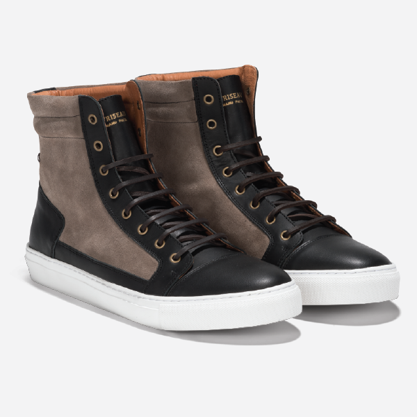 Friseau High Top Sneakers Black Taupe