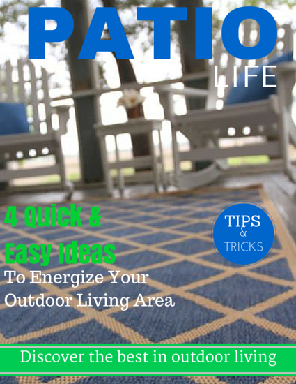 4 quick and easy ideas to energize your outdoor living space