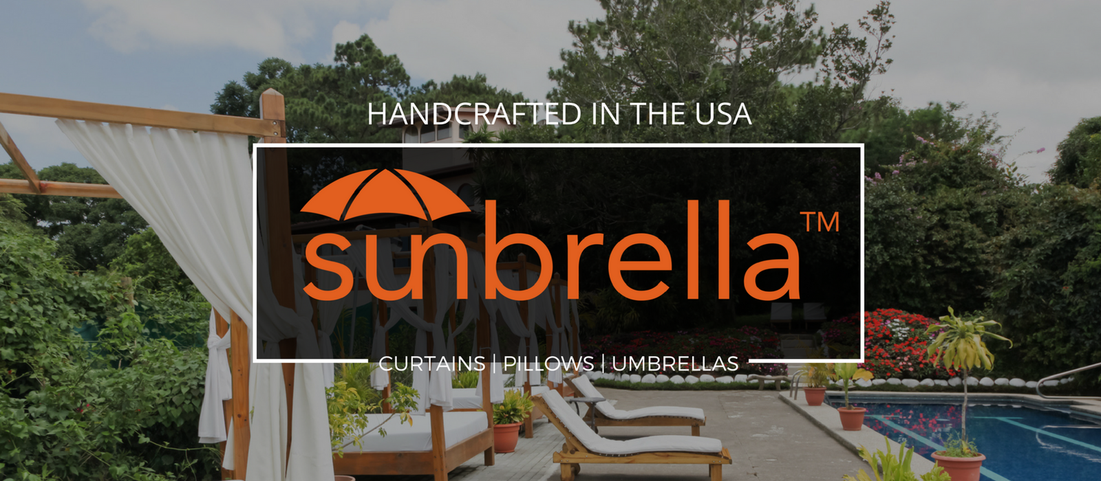 Sunbrella® Tab Top Outdoor Curtain | Dupione Collection Image 1