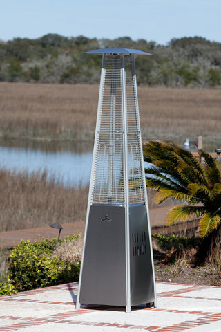 Pyramid Flame Heater- Stainless Steel