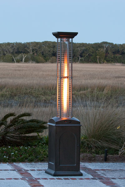 Square Flame Heater - Mocha Finish