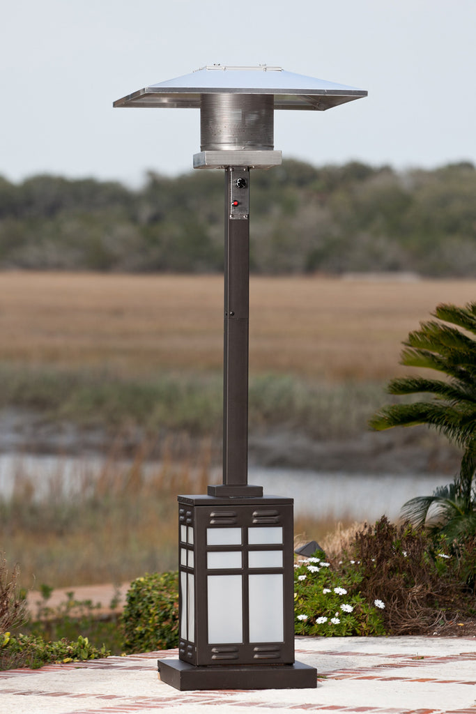 Square Illuminated Patio Heater  - Mocha