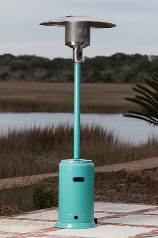 Powder Coated Patio Heater - Aqua Blue