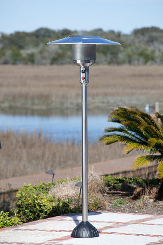 Natural Gas Patio Heater - Stainless Steel