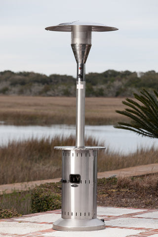 Telescopic Commercial Patio Heater  - Stainless Steel