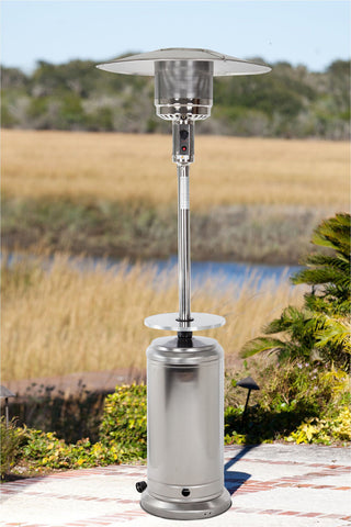Standard Series Patio Heater with Adjustable Table -Stainless Steel
