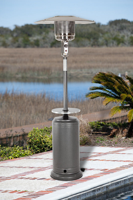 Standard Series Patio Heater with Adjustable Table - Hammer Tone Silver