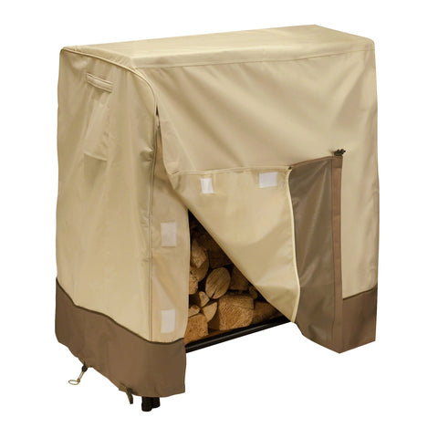Premium Log Rack Cover - Beige