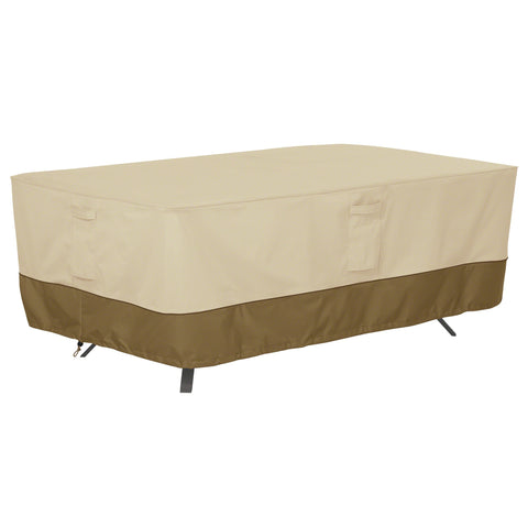 Premium Rectangular/Oval Patio Table Cover - Beige
