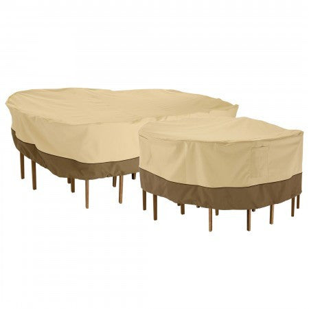 Premium Rectangular / Oval Table Set Covers - Beige