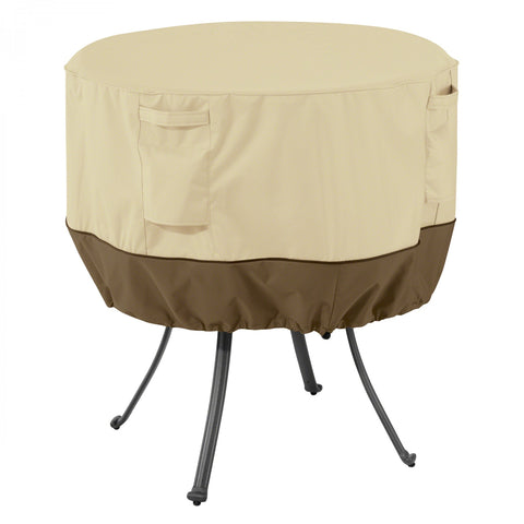 Premium Round Patio Table Cover - Beige