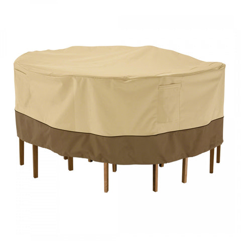 Premium Round Table Set Covers - Beige