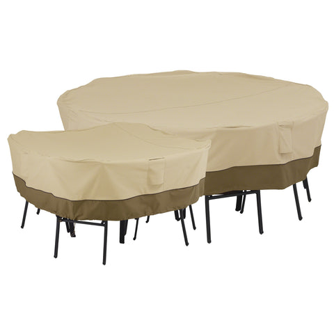 Premium Square Table and Chair Covers - Beige