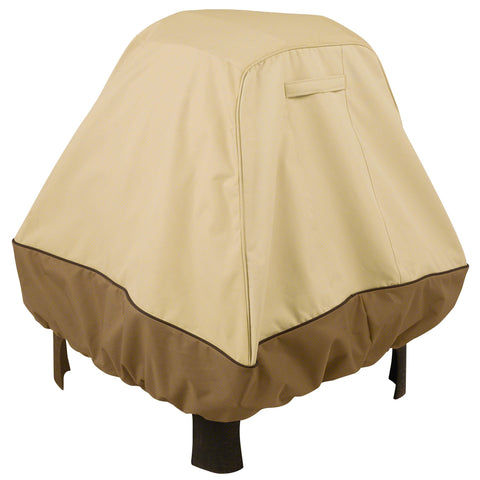 Premium Stand Up Fire Pit Cover - Beige