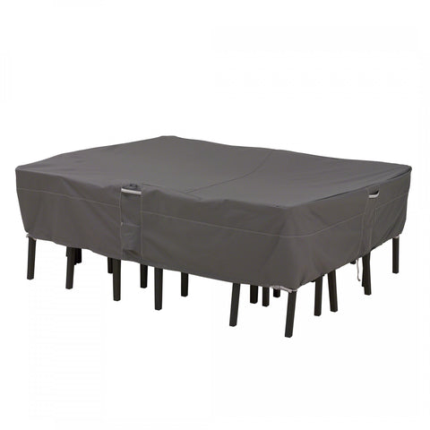 Premium Rectangular / Oval Table Set Covers - Charcoal