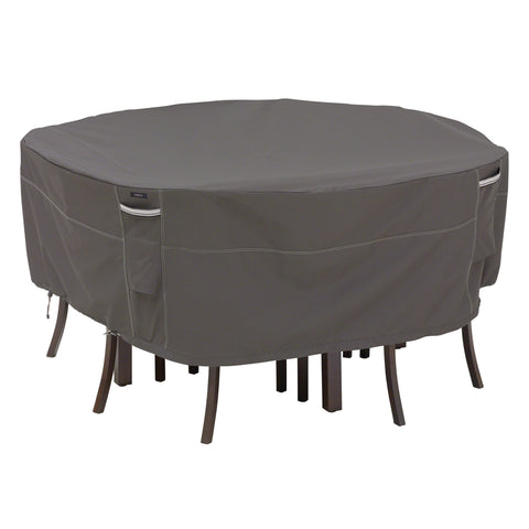 Premium Round Table Set Covers - Charcoal