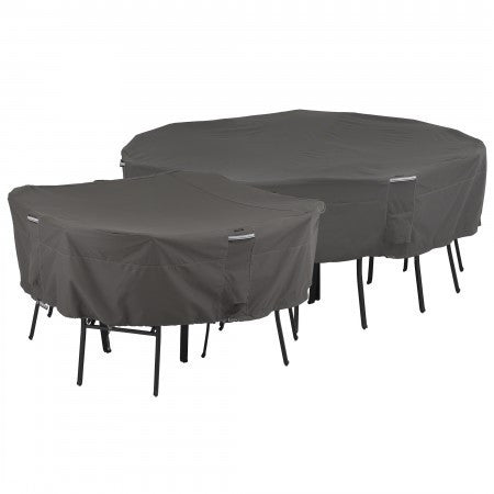 Premium Square Table and Chair Covers - Charcoal