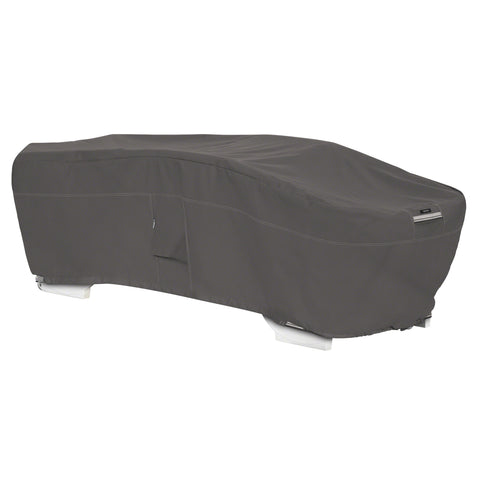 Premium Stackable Chaise Lounge Cover - Charcoal