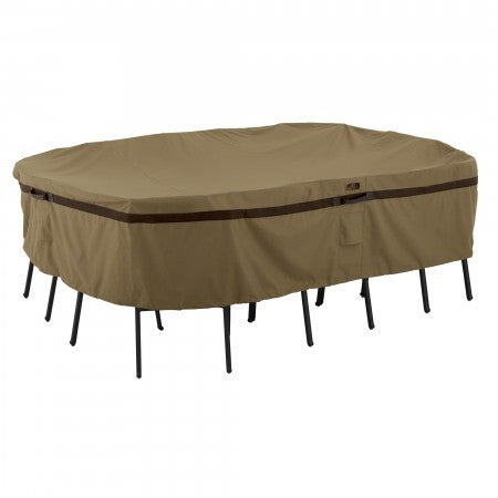 Premium Rectanglular/ Oval Table Set Covers - Sand