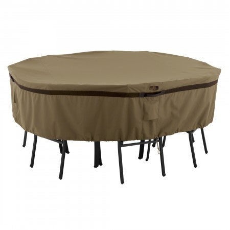 Premium Round Table Set Covers - Sand