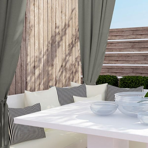 Sunbrella® Grommet Top Outdoor Curtain | Canvas Collection