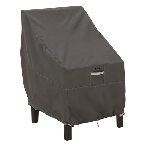 Premium High Back Chair Cover - Charcoal