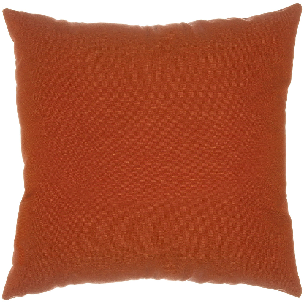 "Sunbrella Outdoor Throw Pillow 18"" x 18"" - Canvas Brick"