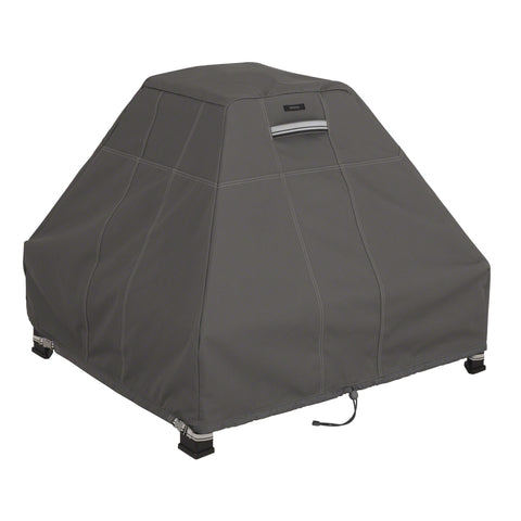 Premium Stand Up Fire Pit Cover - Charcoal