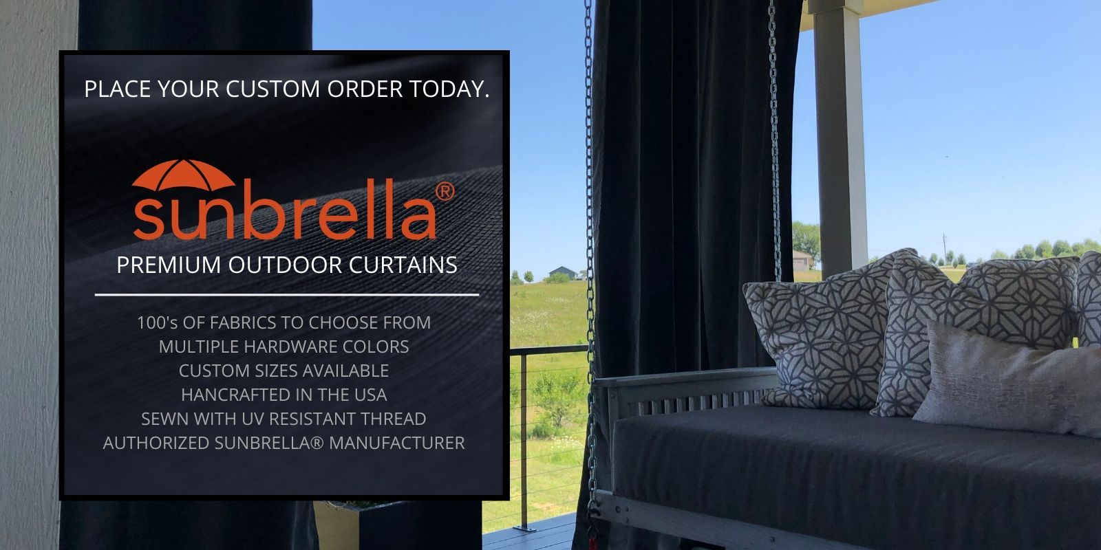 Custom Sunbrella Outdoor Curtains