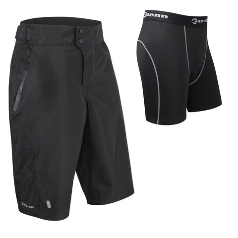 Tenn Men's Protean MTB Cycling Shorts + Coolflo Padded Boxers Combo