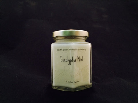 Eucalyptus Mint Hex Jar Candle