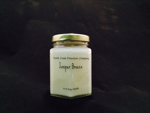 Juniper Breeze Hex Jar Candle