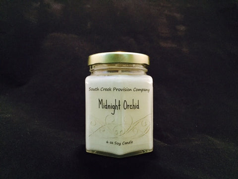Midnight Orchid Hex Jar Candle
