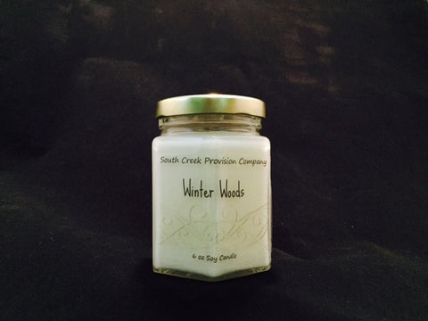 Winter Woods Hex Jar Candle