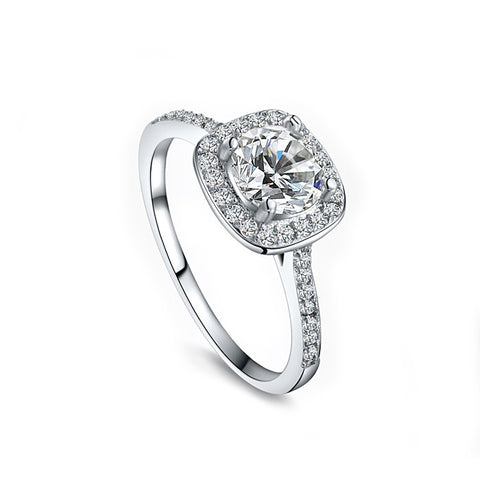 Ana - platinum plated ring