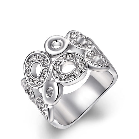 Natalie - white gold plated ring