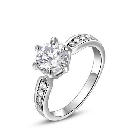 Victoria - platinum plated ring