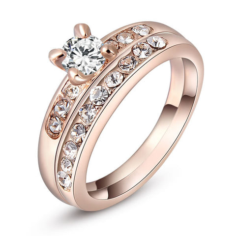Isabella - rose gold plated ring