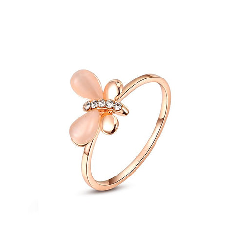 Leah - rose gold plated ring