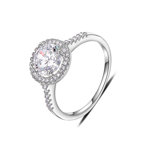 Sophia - platinum plated ring