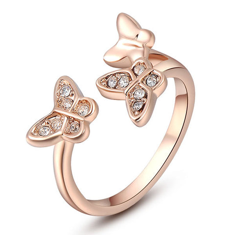 Emma - rose gold plated ring