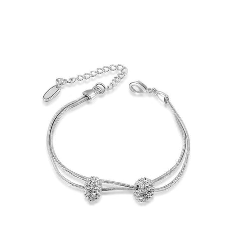 Chloe - white gold plated bracelet