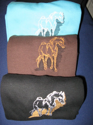 Tank Top, Rib-Knit, with Arabian Horse
